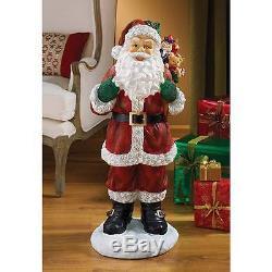 Three Foot Tall Santa Claus and Toys Chimney Statue Christmas Jolly Saint Nick