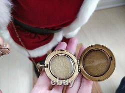 UNIQUE REALISTIC Santa Figure Art Doll Handcrafted Claus Vintage Christmas