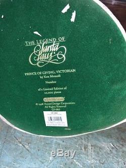 United Design Santa Claus USA Prince Of Giving Victorian COA box