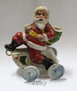 Unusual old Santa Claus Papa Noel hard plastic figure 1950