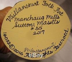 VAILLANCOURT FOLK ART WINTRY SCENE SANTA CLAUS Personally signed by Judi