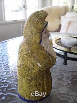 VINTAGE ANTIQUE CHRISTMAS BELSNICKLE SANTA CLAUS PAPER MACHE candy holder