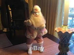 VINTAGE CHRISTMAS PINK Harold Gale SANTA CLAUS 1950s-1960's