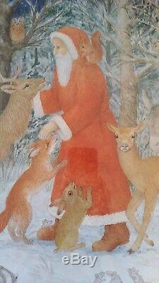 VINTAGE COLLECTIBLE Old World Santa Claus FATHER CHRISTMAS PRINT Home Decor