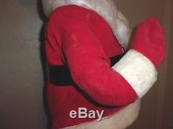 VINTAGE LARGE Store / Window Display RARE Felt SANTA CLAUS CHRISTMAS