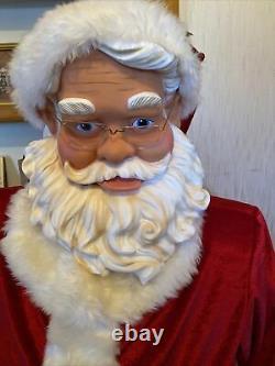 VINTAGE Life Size 50 Christmas Animated Singing Dancing Santa Claus Local PU
