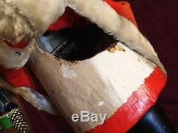 VINTAGE SCARCE LARGE 28.5 inch NODDING NODDER SANTA CLAUS MECHANICAL CLOCKWORK