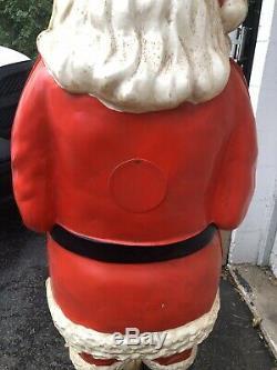 VTG POLK BROS Life Size SANTA CLAUS Christmas STORE DISPLAY BIG Blow Mold