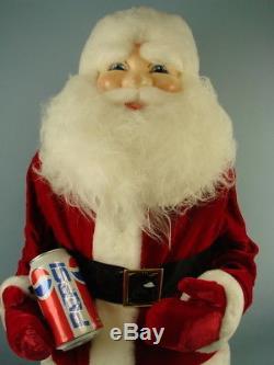 VTG SANTA Claus PEPSI Cola Can Christmas Decoration Display Standing Figurine