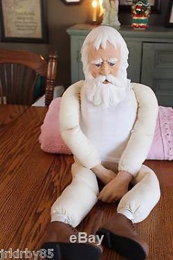 VTG Santa ClausOld ManGrandpa DollHandmade NICHOLAS Doll 34 tall, Clothes