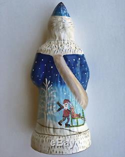Vaillancourt Chalkware Santa Wintry Santa Claus Gift Boxed