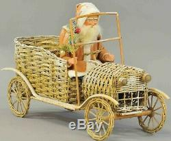 Very Fine Detailed SANTA CLAUS DRVING HIS FABULOUS MOTOR CAR by Kathy Patterson