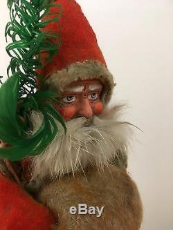 Very Rare BELSNICKLE Santa Claus Father Christmas 12 Candy Container Circa 1900