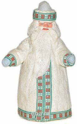 Vintag Santa Claus Ded Moroz Soviet Christmas Tree Toy Doll Russia Figure 15.7