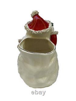 Vintage 12 Large Big Napco Spaghetti Santa Christmas Vase Planter ESTATE FIND