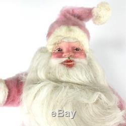 Vintage 15 Harold Gale 1960s Pink Fur Santa Claus Mary Kay Cosmetics