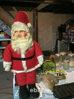 Vintage 1930's 27 Santa Claus Store Display with Hand Painted Face