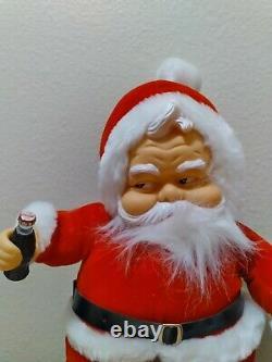 Vintage 1950's Rushton Coca Cola Santa Claus with black boots