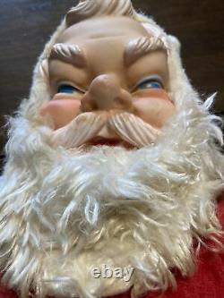 Vintage 1950's Santa Claus Plush Doll Toy Rubber Face, Hands & Boots Large 25