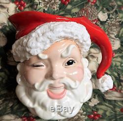 Vintage 1950's Santa Claus Toby/Figural pitcher Japan excellent condition