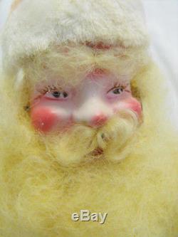 Vintage 1960's 15 Harold Gale Pink Velvet Santa Claus Figure Doll Plush