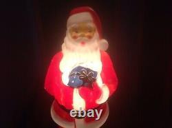 Vintage 1971 33 Empire Blow Mold Santa Claus Christmas USA Yard Decor excellent