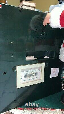 Vintage 1993 Holiday Creation Animated Santa Clause W Cassette Player Rare