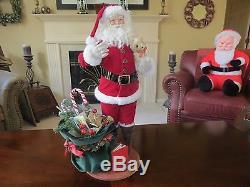 Vintage 1994 Lynn West Designs THE NIGHT BEFORE CHRISTMAS Santa Claus Figuren
