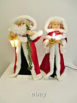 Vintage 1997 TELCO MOTIONETTES 24 Animated Christmas Figures Santa & Mrs Claus