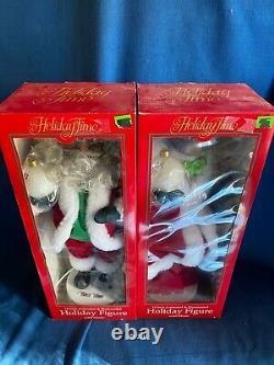 Vintage 1998 Telco Motionettes 18 Black AFRICAN American Mr & Mrs Santa Claus