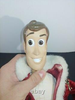 Vintage 1999 Toy Story Holiday Hero Woody Santa Claus Figure Mattle