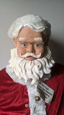 Vintage 4' Gemmy Animated Sings Santa Clause Christmas Holiday Sings Dancing