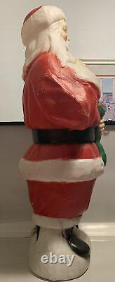 Vintage 40 Inch Tall Plastic Blow Mold Santa Claus by Empire needs light & cord