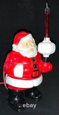 Vintage 50s Royal Santa Claus With Royal Crown Bubble Light