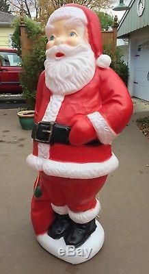 vintage 60 tall general foam lighted santa claus blow mold christmas decoration - General Foam Plastics Christmas Decorations