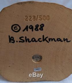 Vintage ANRI B Shackman 9 1/2 Wooden Santa Claus Figure 1988 Christmas 228/500