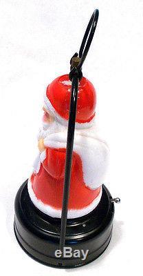 Vintage Amico Battery Light Up Santa Claus Mini Lantern With Box Works 66090