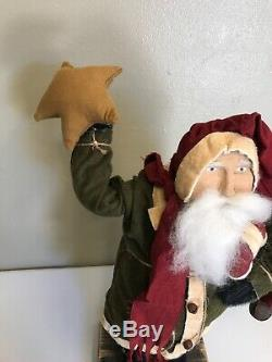 Vintage Arnett's Country Store Santa Claus Holding a Star with Candy Cane USA