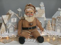 Vintage Baby-faced Santa Claus Cloth Dollsuper Cute