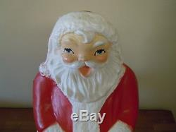 Vintage Beco Prod. 31-Inch Christmas Blow Mold Lighted Santa Claus Decorations