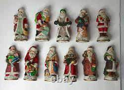 Vintage Ceramic Santa Claus 5 Inch Figures Around The World Lot Of 11 See Pics