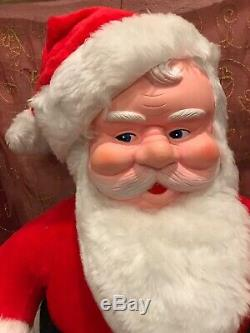 Vintage Christmas 25 Santa Claus Rubber Face Plush Doll Superior Toy & Novelty