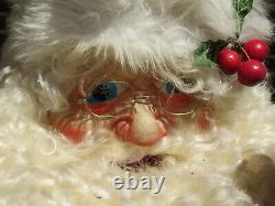 Vintage Christmas Mechanical Store Display Santa Claus Works