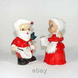 Vintage Christmas Menschik Goldman Cowboy Santa Mrs Claus Western Salt & Pepper