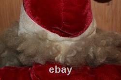 Vintage Christmas RARE 25 Harold Gale Mohair Velvet Santa Claus