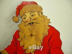 Vintage Christmas Santa Claus Toy Store Display-wood- Elves-toys-51-24