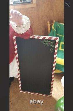 Vintage Christmas Santa Claus With Menu Board (Large)