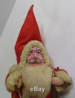 Vintage Cloth & Paper Mache Santa Claus Christmas Figure
