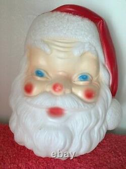 Vintage EMPIRE Plastic Blow Mold Large Santa Claus Face No Cord