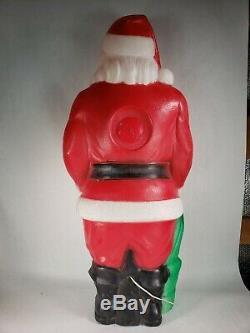 Vintage Empire Santa Claus Saint Nick Lighted Christmas Blow Mold 47 Tall HUGE